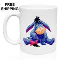 Eeyore, Birthday, Christmas Gift, White Mug 11 oz, Coffee/Tea
