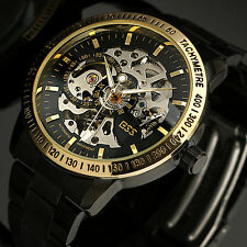 8ccce364e7a19 Montre Homme ESS Automatique Squelette Noir Tachymètre WM399-ESS Soldes