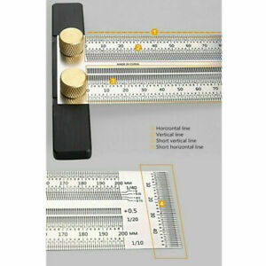 Ultra Precision Marking Ruler T Type Square Wood Working Measuring Tools R5E2