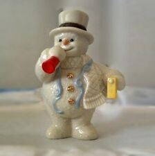 Lenox Fine China Snowman Sculpture Figurine - Celebration Snowman - New