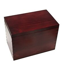 Recipe Card Box (New), Wooden (Cherry Stained Pine), from Meadowsweet Kitchens