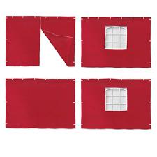 + + PARETI LATERALI TENDA i muri per Padiglione. & Party tende di 3x3m-rosso + +
