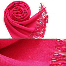 Pashmina Cashmere Silk Solid Shawl Wrap Unisex Long Scarves Solid-colored