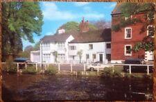 Barnet Hadley Common & Pond Monken London Vintage Postcard Car Colour