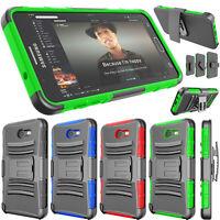 For Samsung Galaxy J7 V/J7 Perx/J7 PRIME Belt Swivel Clip Shockproof Hybrid Case