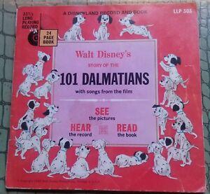 Walt Disney - 101 DALMATIANS Book and Record - 1960 LLP305