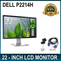 """Dell P2214H - LED monitor - Full HD (1080p) - 22"""" - Power cable and VGA cable"""
