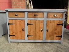 Display cupboard, Rustic, Solid Pine, Butchers Block style Top