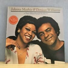 JOHNNY MATHIS & DENIECE WILLIAMS That's What Friends Are For 1978  Vinyl LP EXC