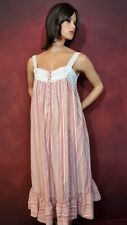 Women's Romantic Cotton Nightgown M Ribbons Ruffles And Lace!