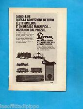 TOP969-PUBBLICITA'/ADVERTISING-1969- LIMA - LOCOTENDER H0+VAGONI E BINARI