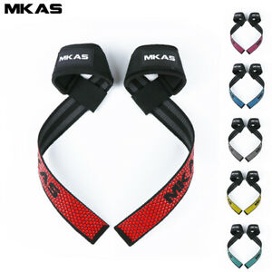 Padded Weight Lifting  Straps Training Gym Hand Bar Wrist Support Gloves Wrap