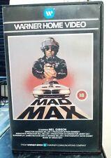 MAD MAX WARNER HOME VIDEO VHS VIDEO PRE CERT BIG BOX 1979