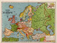 A4 Reprint of European Map World