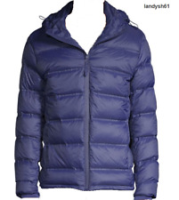 Saks Fifth Avenue Men's  Blue DOWN Hood Coat Jacket Sz US 2XL NEW $350