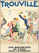 Trouville The Swimming Pool Paris France Vintage Travel Advertisement Poster 20