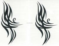 LOT 2 TRIBAL DESIGN FLAMES R654 Temporary Tattoo AWESOME