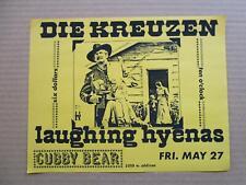 DIE KREUZEN, LAUGHING HYENAS at CUBBY BEAR Chicago 5/88 Flyers Handbills