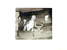 JORGE CASTILLO - Etching on paper hand nigned & numbered by the artist ed. of 75