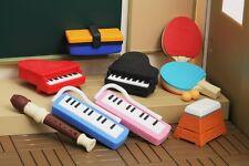 IWAKO 9 School activities Puzzle Rubber Erasers Piano, Recorder, Melodica etc