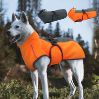 Fleece Dog Coats Waterproof Reflective Winter Warm Large Dog Jacket Hooded Vest