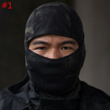 Camo Motorcycle Motorbike Balaclava Outdoor Full Face Mask Neck Warmer CS Helmet