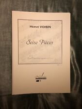 Hervé Voisin Seize pièces pour flûte a bec soprano et piano partition Notissimo