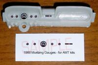 1966 FORD MUSTANG GAUGE FACES for 1/25 scale AMT KITS