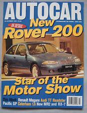 AUTOCAR magazine 25/10/1995 featuring Caterham 7 road test, Renault Megane