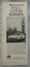 1969 Lotus Europa Original advert