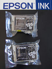 Lot of 2 GENUINE Epson 126 Black High Yield Ink Cartridges T1261_T126120-D2