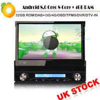 1 Din Autoradio Navigation GPS DVD Player DAB Wifi USB Bluetooth Android 8.0 MP3