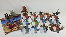 Hasbro Heroscape Misc Lot of Cards, Figures, Tokens, Instructions