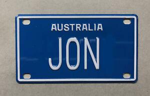 JON Novelty Mini Number Plate