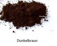 Oxidfarbe Pigment 1kg - Oxidpigment für Betonmasse, Putz, Gips Farbe Dunkelbraun