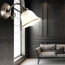Applique luminaire mural laiton ancien verre satiné éclairage salle de séjour