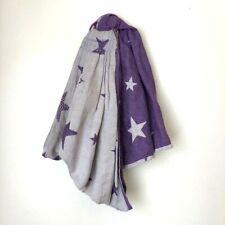 Kokadi Shiny Star Designs Converted Woven Wrap Ring Sling Purple Stars Morgan