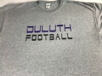 Duluth Football T-Shirt Mens 2XL Georgia High School Wildcats Student Alumni Tee