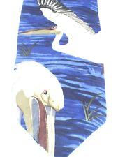 Endangered Species Pelican 100% Silk Artistic Design Necktie