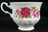 Queen Anne Bone China, Red & Pink Floral Tea Cup Made in England