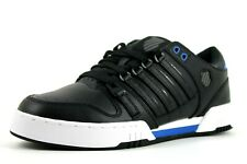 K-Swiss Avery Mens UK 7 EU 41 Black & Blue Low Top Sneakers Trainers Shoes