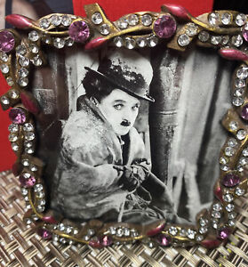 Glass Act Studio THE FRENCH COLLECTION Picture Frame 3 X 3 Amethyst+Rhinestones