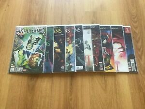 UNCANNY INHUMANS 6 TO 15 INCLUSIVE. ALL NM COND. MARVEL. 2014 SERIES.
