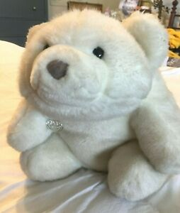 White CLASSIC GUND Polar BEAR Plushy Doll Tags Vintage Teddy Platinum Edition