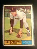 1961 Topps #294 Don Blasingame Giants ExMt (no creases)