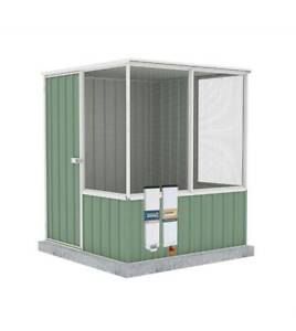 ABSCO Shed - Chicken Coop/aviary Pale Eucalypt - 1.52 x 1.48 x 1.8m