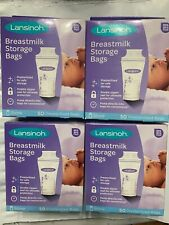 Lansinoh Breastmilk Storage Bags, 50 count - 4 BOXES
