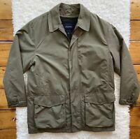 BROOKS BROTHERS Mens Wool Removable Lined Coat Jacket Sz. Medium Windbreaker EUC