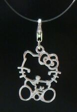 craft2design Charm ~ 925 Sterling Silver Kitty Charm 16x20mm