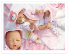 "22"" Handmade Lifelike Reborn Newborn Baby Doll Full Silicone Vinyl Bath Girl Toy"